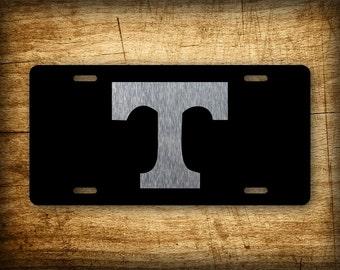 Tennessee BLACK & SILVER License Plate Vols TN State Auto Tag Football Volunteer College Football