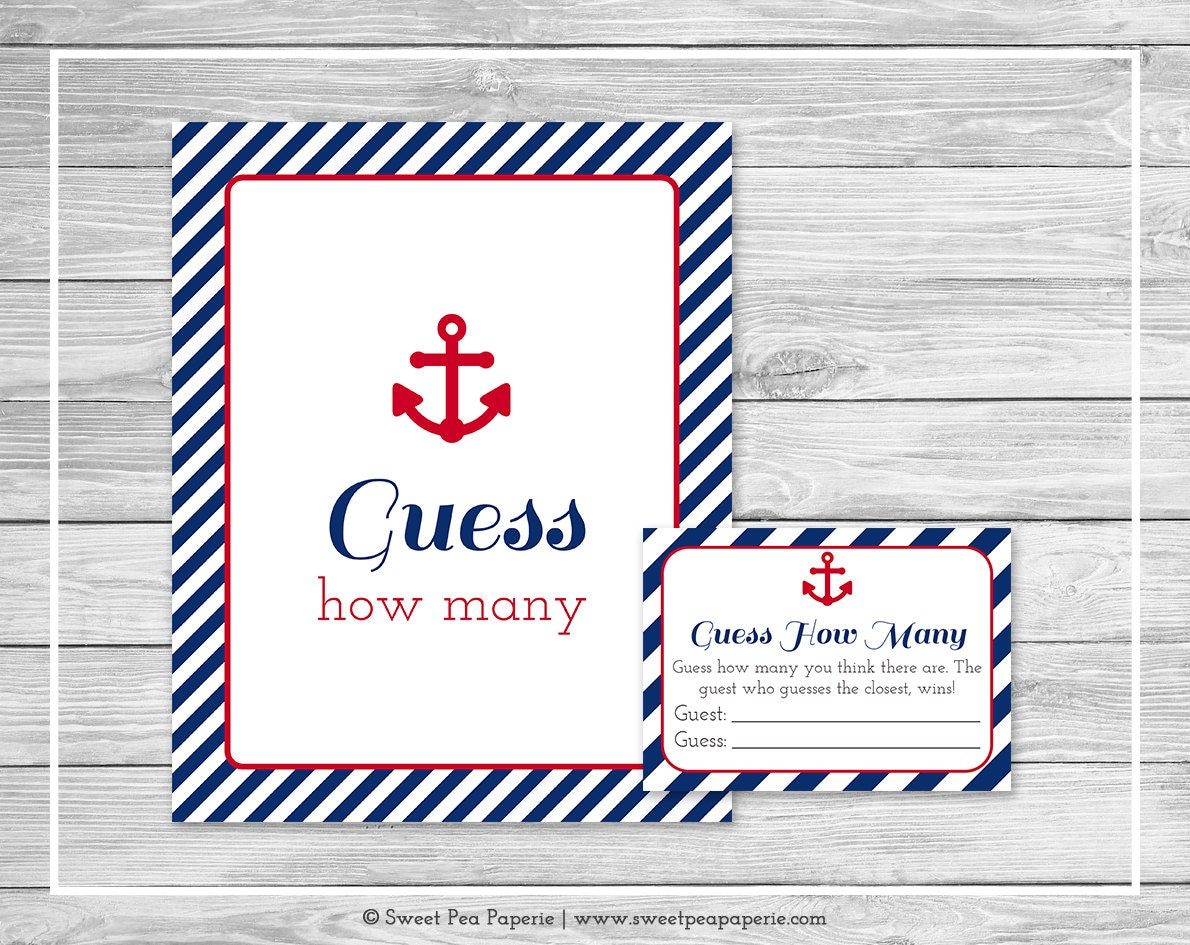 Baby Showers How Many ~ Nautical baby shower guess how many game printable
