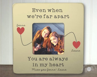 personalized best friends picture frame long distance relationship gift ideas long distance friend gift even when were far apart ibfsfrnd
