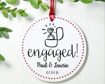 Engaged ornament | Etsy