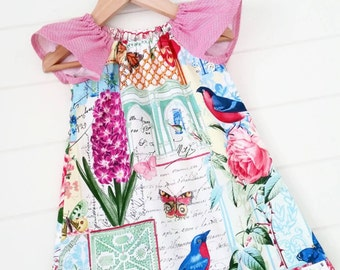 Girls French Style Floral Dress