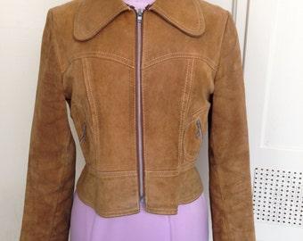 1960s/70s Tan Suede Jacket