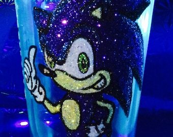 Sonic the hedgehog glass
