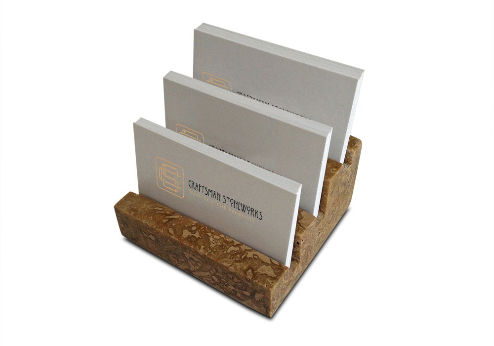 Multiple Business Card Holder Holds 3 different cards Honed