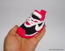 Baby Sneakers, Baby Crochet  Sneakers, Baby Shoes, Pink Sneakers, Crochet Baby Boots, Newborn Cirl Shoes, Soft Shoes for Walking