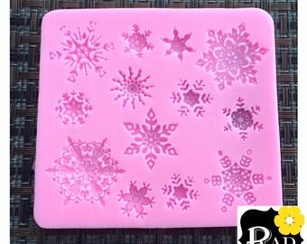 Snowflakes- 13 cavity Silicon Mold
