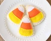 Pretend Play Felt Food Candy Corn Sugar Cookies - Halloween Treat
