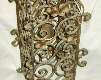 old iron chandelier patinated brass