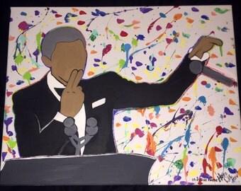 POTUS Obama painting