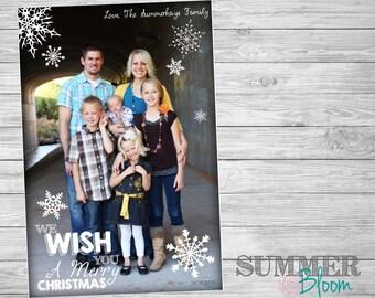 We Wish You a Merry Christmas Snowflake Photo Card