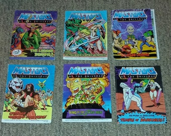 Vintage lot of Masters of the Universe Mini Comic with Play Wear