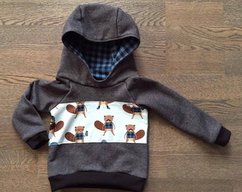 "For babies & children ""Lumberjack"" blue Hoodie"