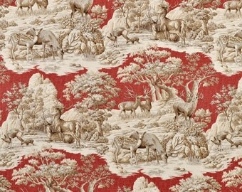 Window curtains window panels toile curtains vintage curtains window treatments red drapes red burgundy curtains french country curtains