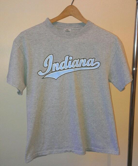 Vintage indiana university t shirt adult size medium heather for Adult medium t shirt