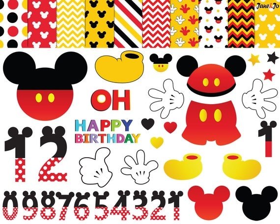 Mickey Mouse 1St Birthday Invitation Template Free as adorable invitations design