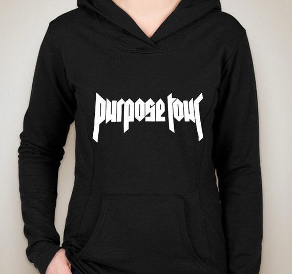 justin bieber purpose tour hoodie sweatshirt by shoptrainwreck. Black Bedroom Furniture Sets. Home Design Ideas