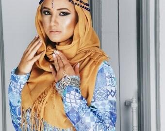 Headpiece Maharani Blue, Indian Tikka, Hair Accessory, Tikka