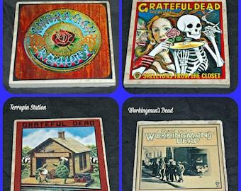 Grateful Dead - Grateful Dead Albums - Grateful Dead Music - Jerry Garcia - Grateful Dead Gifts - Gratetful Dead Coasters - Music Coasters