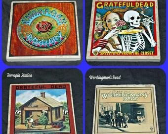 Grateful Dead Album Covers on Coasters!