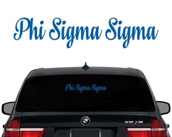 PhiSig Phi Sigma Sigma Decal Sorority Decal Laptop Sticker Car Decal