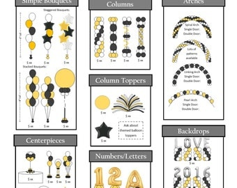 Pricing Flyer Style A in .pub and .pdf, includes balloon clip art