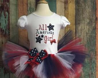 4 th of July tutu outfit, pageant outfit, 4th of Jy Outfit