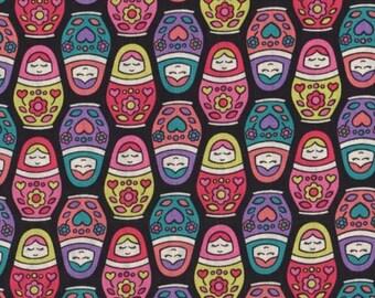 Timeless Treasures - Russian Dolls Fabric - Fun (Babki Tula Fabric) RARE - sold by the 1/2 yard