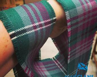 Tartan Hand Fasting Ribbon - fringed, Old and Rare Tartan