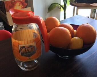 Vintage orange juice jug