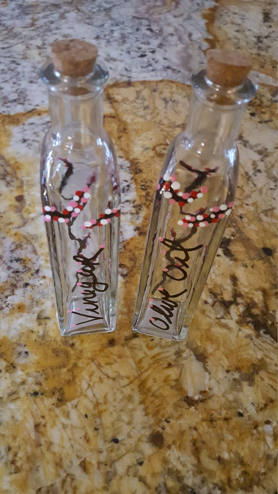 Https Www Etsy Com Listing 270373130 Oil And Vinegar Cherry Blossom Set