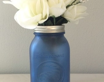 Sea Glass Mason Jar Vase
