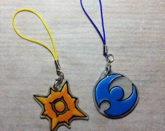 Pokemon Sun and Moon Phone Charms