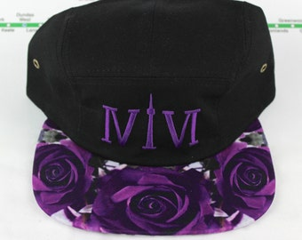 """Purple 5 Panel! 416 five panel hats. The Roman Numerals Stand For """"416"""", Toronto's Area code, With The """"1"""" Resembling The CN Tower."""