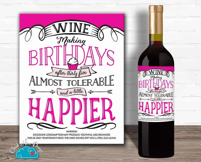 Cheer Up Wine Label Set Personalized Wine Label Custom |Weird Wine Labels