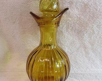 Vintage Avon Amber Cruet
