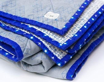 modern baby quilt, boy baby quilt, boy crib quilt, boy toddler quilt, boy baby bedding, geo quilt, modern wholecloth quilt, geo nursery