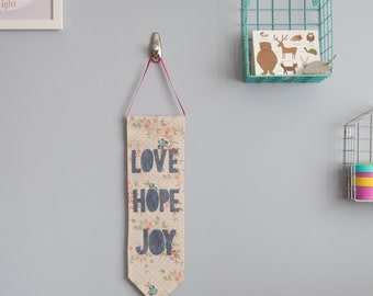 Love, Hope, Joy Wall Hanging
