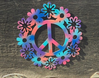 Flower Power Peace Sign