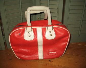 Dynamic of 60s/70s Bowling bag red small brand bowling ball bag.