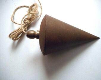 Antique Conic Turned Iron Vertical Level Plumb Bob