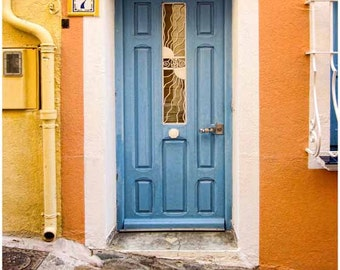 blue yellow Wall Art Paris Photography Large Wall Art Paris Prints Door Photos Blue Paris Door Prints Rustic blue Door Prints blue Door door