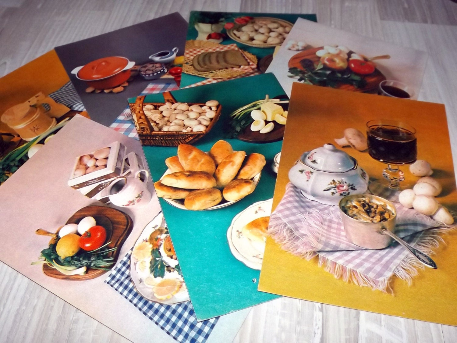 Retro kitchen cards vintage kitchen art cards soviet for Decoration retro cuisine