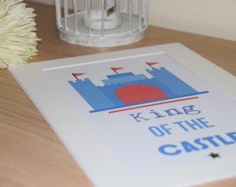 Boys Castle Print. 'King of the Castle'