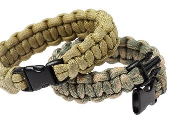 Customized Paracord Bracelet Cobra Weave Knot, Paracord Survival Bracelet, 550 Cord Bracelet,