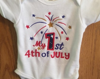 My first 4th of July onesie