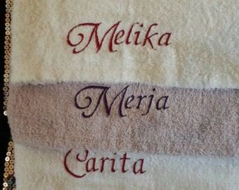 Personalised hair wrap towel, turbie twist hair drying towel with free delivery