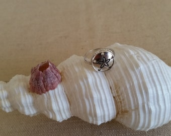 Simple Silver (925) Sand Dollar Ring