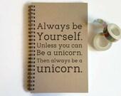 Spiral notebook, bullet journal, writing journal, sketchbook, lined blank or grid, custom