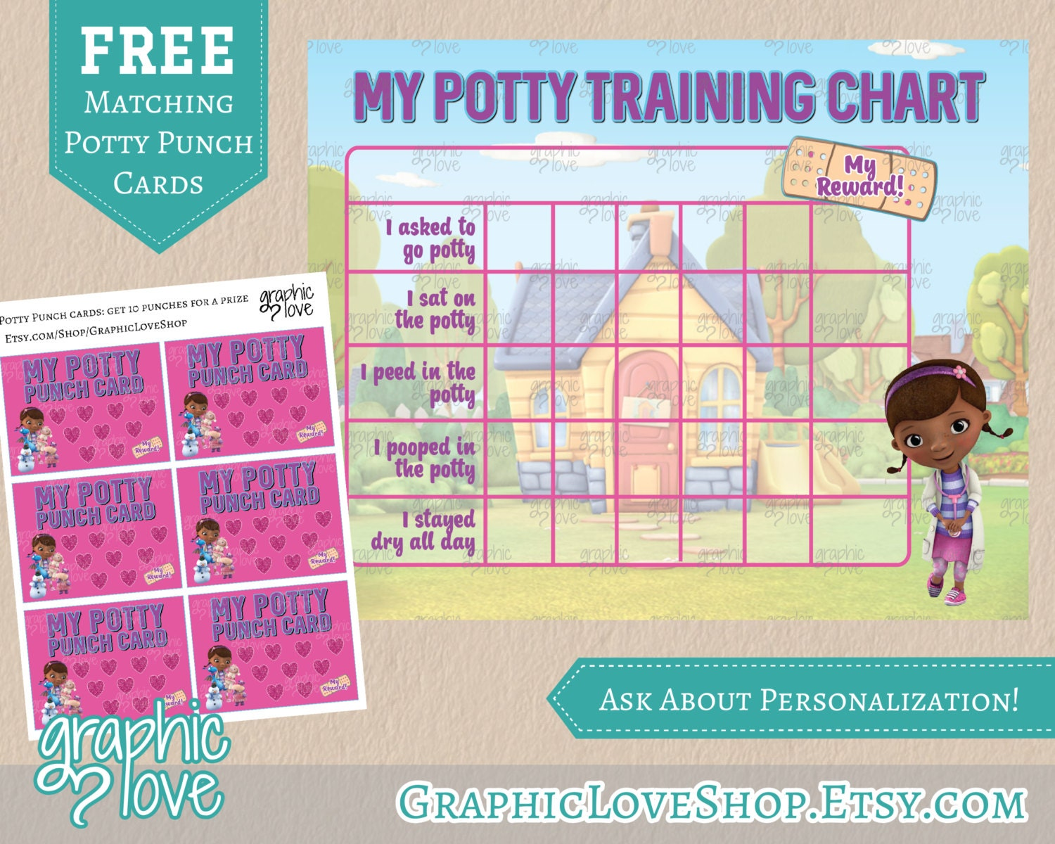 printable doc mcstuffins potty training chart punch 🔎zoom