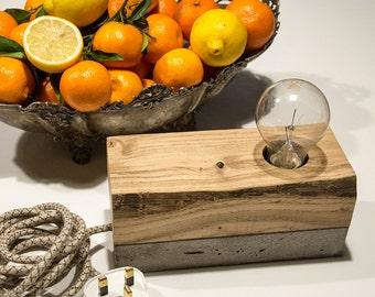 Table Lamp concrete wood